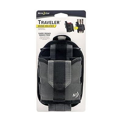 Nite Ize Traveler, Drink Holster, Handsfree Beverage Holder With Rotating Clip