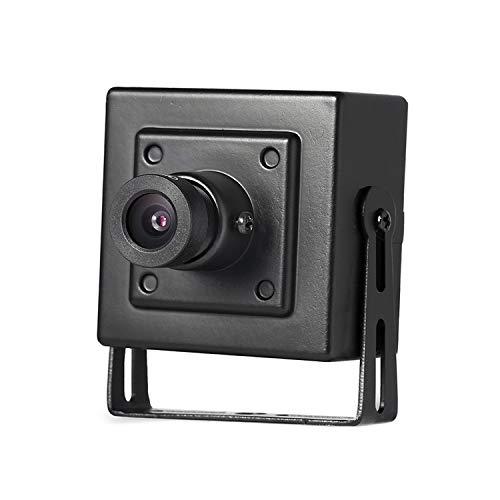 HD 3MP Mini Innen POE IP Kamera, Revotech Überwachungskamera ONVIF für kabelgebundenes Netzwerk P2P 1080P CCTV Videoüberwachung H.265 H.264 (I706-P Schwarz)