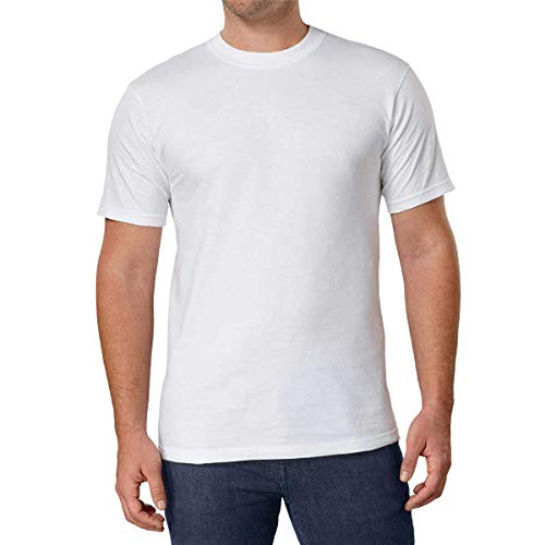 Kirkland Men's Crew Neck White T-shirts (Size: X-Large /Pack of 6)