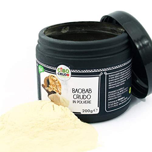 CiboCrudo Baobab in Polvere Bio Crudo, Baobab Fruit Powder Raw Organic – 200gr – Frutto di...