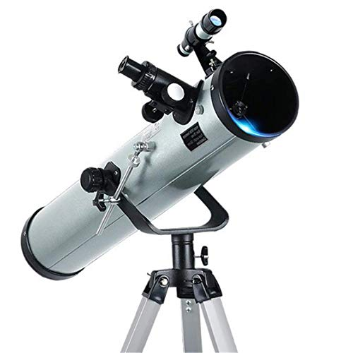 DGHJK Telescopio F70076 Gran Apertura 350 Veces HD Telescopio astronómico Profesional Reflectante con Zoom para observación Espacial del Cuerpo Celestial