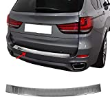 OMAC Fits BMW X5 F15 2014-2018 Chrome Rear Bumper Guard Trunk Sill Protector Steel | Stainless Steel Chrome Sill Cover Trim Protector