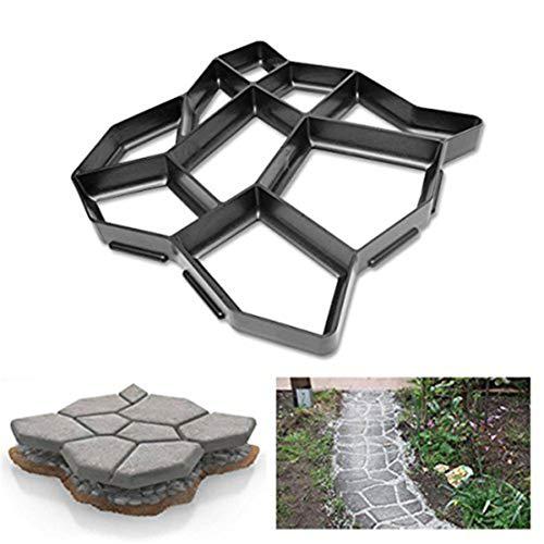QMYS Moldes irregulares para pavimentación de jardín, para pavimentación de ladrillos, para hacer caminos, para hormigón, piedras, losas