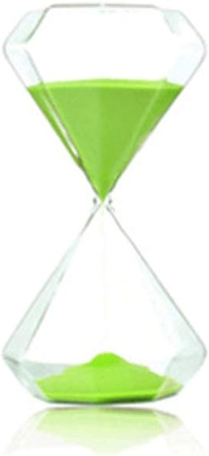 XIONGHAIZI Diamond multicolor timer hourglass, ornaments Valentine's Day creative decorations home accessories graduation gift, 30 minutes green Hourglass, ( color   30 minutes green )