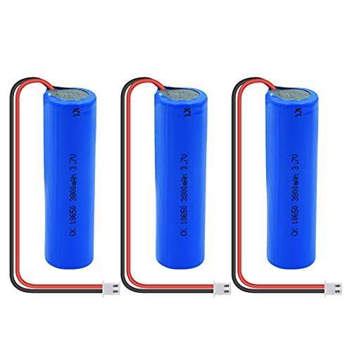 HTRN 3.7v 3800mah 18650 Batería Ni-Mh, Batería Recargable con Enchufe Xh-2p + Cable DIY Adecuado para Luces Led De Coche 3PCS