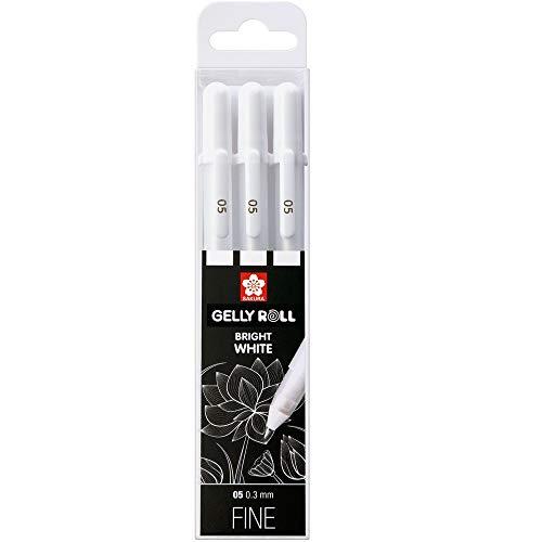 Sakura Gelly Roll Bright White, astuccio con 3 penne roller a inchiostro...