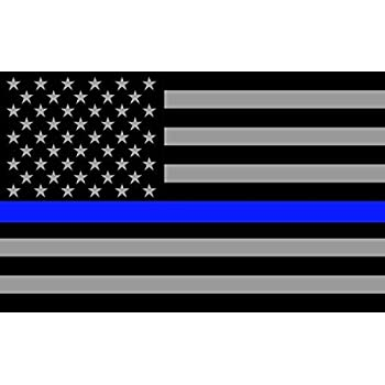 amazon com stickerdad thin blue line subdued american flag full color printed sticker 2 pack size 4 5 x 3 color black gray blue for windows walls bumpers laptop lockers etc automotive stickerdad thin blue line subdued american flag full color printed sticker 2 pack size 4 5 x 3 color black gray blue for windows walls