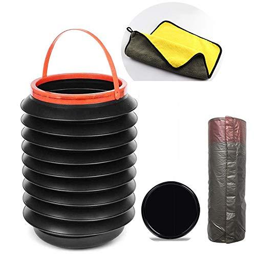 Abcty - Papelera telescópica portátil para coche, redonda, a prueba de fugas, plegable, minicubo de agua retráctil para el hogar, multifuncional, plegable, para pesca
