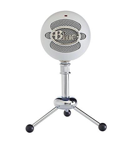 Blue Micrófono USB Snowball, micrófono clásico de calidad de estudio para grabación, podcasting, radiodifusión, retransmisión de gaming en Twitch, locuciones, vídeos de YouTube en PC y Mac - Blanco