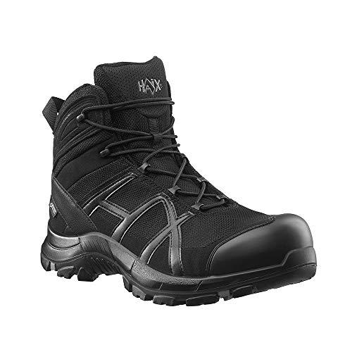 Haix Black Eagle Safety 40.1 mid/Black-Black S3-Sicherheitsschuhe bieten Arbeitsschutz für Handwerk und Industrie. 44