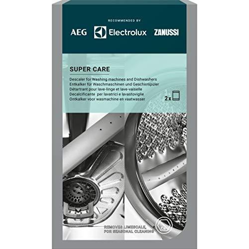 AEG M3GCP300 9029799286 Super Care - Entkalker für Waschmaschinen und Geschirrspüler. Enthält 2 Sachets.