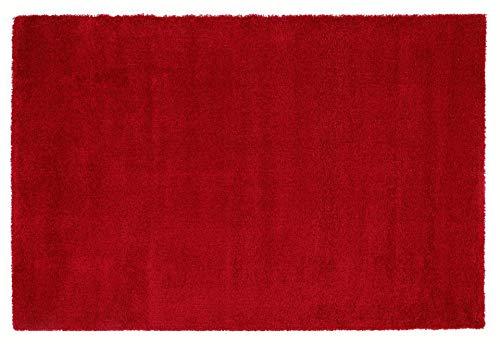 LAMBADA SHAGGY Hochflor Langflor Teppich in rot, Größe: 160x230 cm