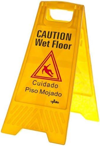 """Update International 24"""" x 12"""" Fold-Out Wet Floor Sign"""