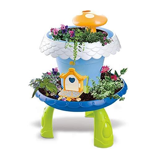 jinclonder DIY Märchengarten Magic Cottage Spiel Zimmer Pflanze Topf Jungen Mädchen Spielen Haus Spielzeug für Mädchen und Jungen ab 3 Jahren Märchenhaus Kit charmante Details