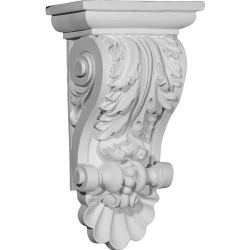 Ekena Millwork COR08X05X14AC 8-Inch W x 5-Inch D x 14 7/8-Inch H Acanthus Shell Corbel