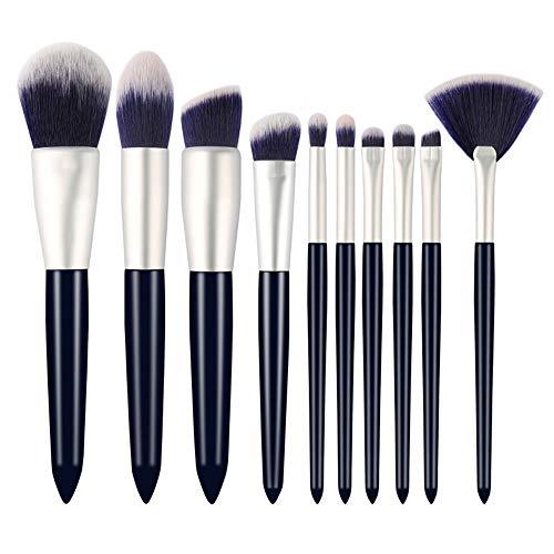 Brosses 10 Piece Makeup Brushes Set Kabuki Pinceaux Fondation Visage Eyeliner Ombre Sourcils Concealer Lèvre Cosmétiques Pinceaux Kit Maquillage pour les femmes
