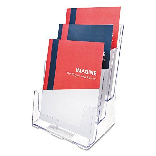 Deflecto 019235 - Expositor vertical de sobremesa, 3 posiciones, formato A4,24.1 x 32.1 x 20.3 cm