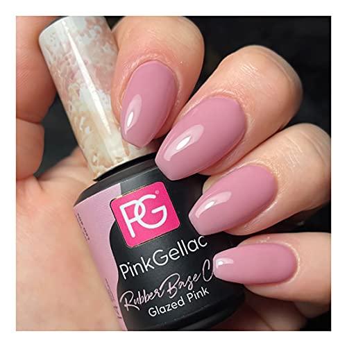 Pink Gellac Rubber Base Cover Glazed Pink Gel Esmalte de uñas 15 ml para lámpara UV LED   Shellac Gel Nail Polish for UV Nail Lamp   LED Nail Polish Gel Esmalte de uñas Gel