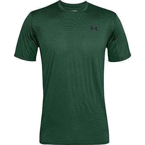 Under Armour Training Vent SS, Camiseta Hombre, Verde (Saxon Green/Black), S