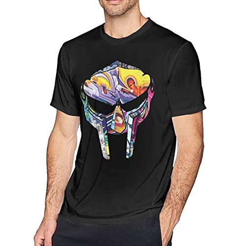 Camiseta de Manga Corta de Moda para Hombre MF Doom, Negra como Imagen M