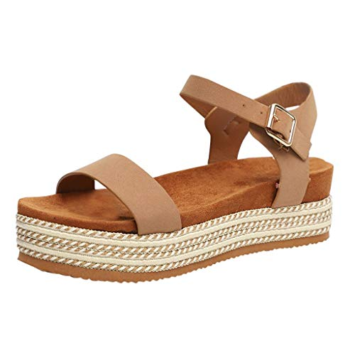 Best Review Of Xinantime Womens Thick Bottomed Sandal Shoes Buckle Ankle Strap Sandals Summer Beach ...