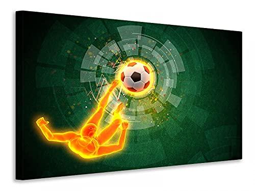 Generisch Lienzo decorativo (45 x 30 cm), diseño de futbolín