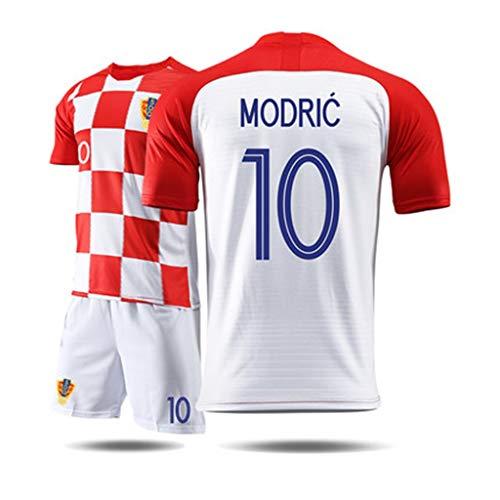 XXHDEE T-Shirt Herren-Kurzarm-Sportbekleidung for Trikot-Fußball-Trainingsanzug aus Kroatien Basketball-T-Shirt (Color : B, Size : M)