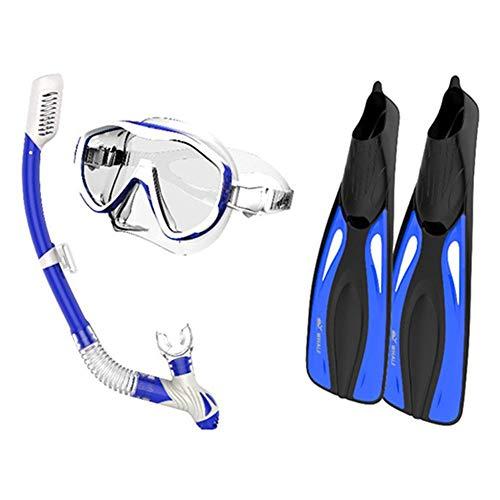 Equipo de Buceo Snorkeling Sambo Gafas de Buceo + Snorkel Frontal Completamente seco + Aletas largas Aletas Equipo de Buceo
