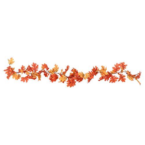 YARNOW Guirnalda de Hojas de Acción de Gracias Guirnalda de Hojas de Arce Otoñal Colgantes de Otoño Corona de Arce de Cosecha para Decoraciones de Acción de Gracias