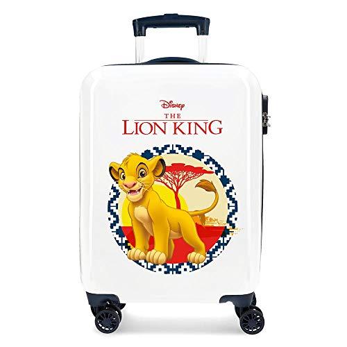 Disney The Lion King Blue Cabin Suitcase 37 x 55 x 20 cm Rigid ABS Combination Lock 34 Litre 2.6 kg 4 Double Wheels Hand Luggage