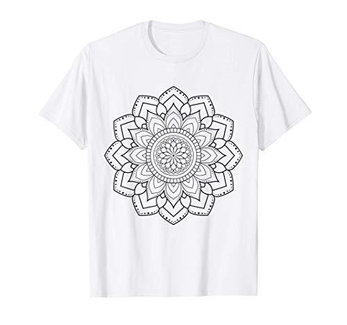 Mandala para pintar y colorear para niños Camiseta