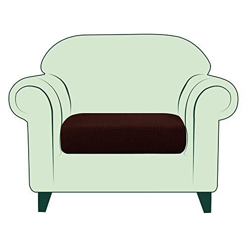 CHUN YI 1 Stück Sofa Sitzkissenbezug Stretch Sitzkissenschutz Elastischer Husse Überzug für Sofa Sitzkissen rutschfest Stoff Möbelschutz(1-Sitzer, Schokolade)