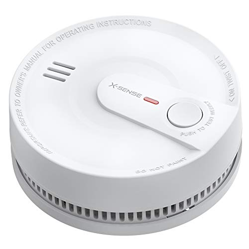 X-Sense Rauchmelder 10 Jahres Batterie, intelligenter Feuermelder, 5 Fach Schutz vor Fehlalarm, hochmodernem fotoelektrischem Sensor, TÜV Zertifiziert, SD2K0AX (1 Stück)