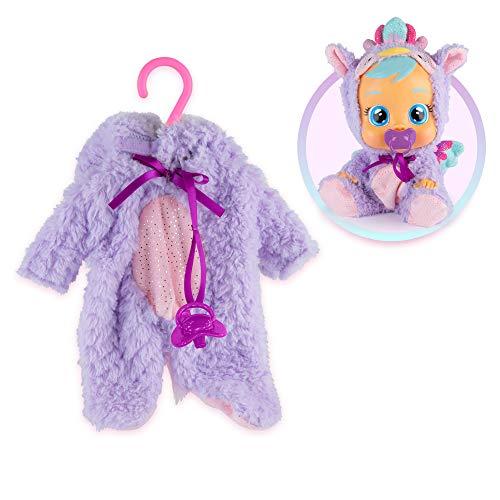 BEBÉS LLORONES Fantasy Pijama Grifo violeta con chupete   Ropa para Bebé Llorón