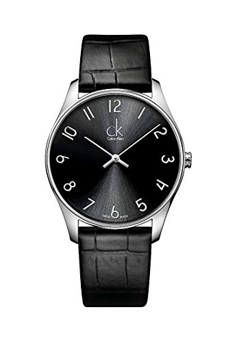 Calvin Klein CK Classic K4D211CX - Reloj analógico de Cuarzo para Hombre, Correa de Cuero Color Negro