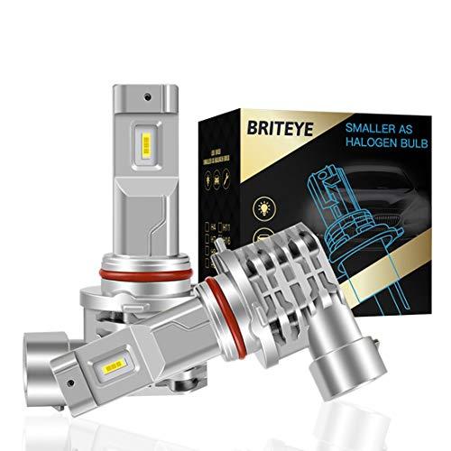 Briteye(まぶしい) 車用 LED ヘッドライト HB3 LEDハイビーム 9005 HB3 LEDバルブ 車検対応 一体型 6500K ...