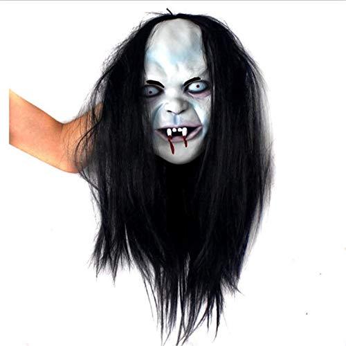 XIAMAZ Vrouwen Enge Masker Halloween Kostuum Horror Masquerade Rol spelen Evil Expression Volledige Masker Volwassen Ghost Masker
