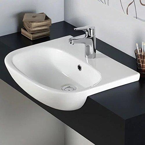 RAK Tonique Waschbecken, halb-Einbau, 520 mm breit, 1 Wasserhahnloch