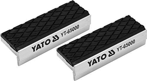 YATO Profi 75mm Schraubstock-Schutzbacken aus Aluminium mit Soft-Beschichtung 2 tlg, magnetisch, universell einsetzbar, optimaler Schutz für Ihr Werkstück