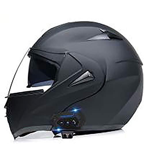 YHNMK Motorcycle Anti-collision Modular Helmet Adult Men And Women Full Face Bluetooth Motorcycle Racing Helmet