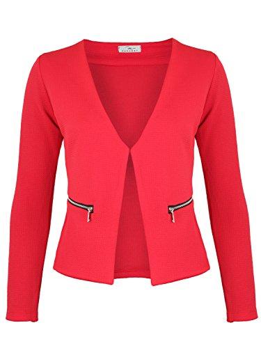 DANAEST GmbH Damen Blazer mit Taschen (382), Farbe:Rot, Kostüme & Blazer für Damen:40 / L
