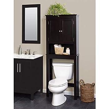 Zenna Home Custom Suite Over-The-Toilet Spacesaver Espresso