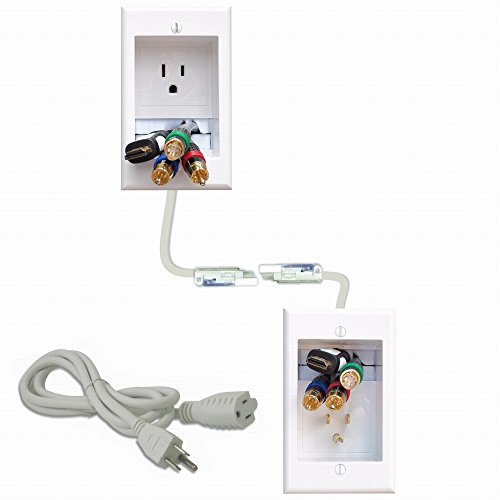 PowerBridge ONE-CK Recessed In-Wall Cable Management System with PowerConnect for Wall-Mounted Flat Screen LED, LCD, and Plasma TV's