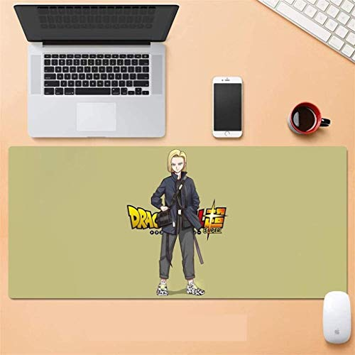 Gaming Mouse Pad,for Dragon Ball Z Large Extended Keyboard Mat Sun Wukong 900x400mm Computer Pad for Laptop Home Office Working (Color : A)