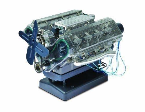 BRITPART Build Your OWN V8 Engine, Motorized Model of V8 Petrol Engine Part: DA4817
