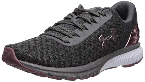 Under Armour Women's Charged Escape 2 Chrome Running Shoe, Graphite (100)/White, 9 M US