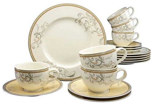 Creatable, 17801, Série Villi Medici, Service à café de 18 pièces, Porcelaine, Multicolor, 36 x 28,5 x 27,5 cm
