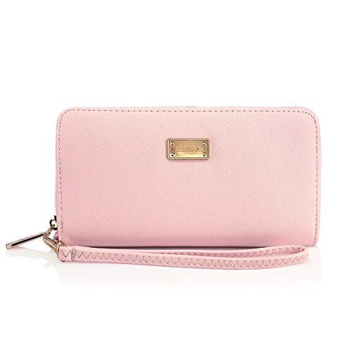 Women Leather Wallets to Organize Your Cash, Passport, Card, and Phone with Removable Wristlet Strap