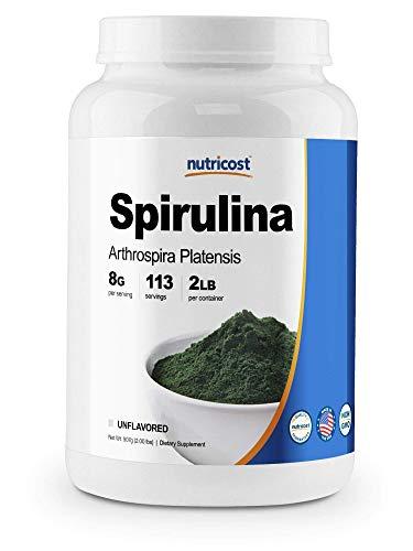 Nutricost Organic Spirulina Powder 2 Pounds - Pure, Certified Organic Spirulina