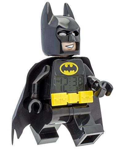 Lego 9009327 Reloj Despertador Batman Movie, Batman 7.5″